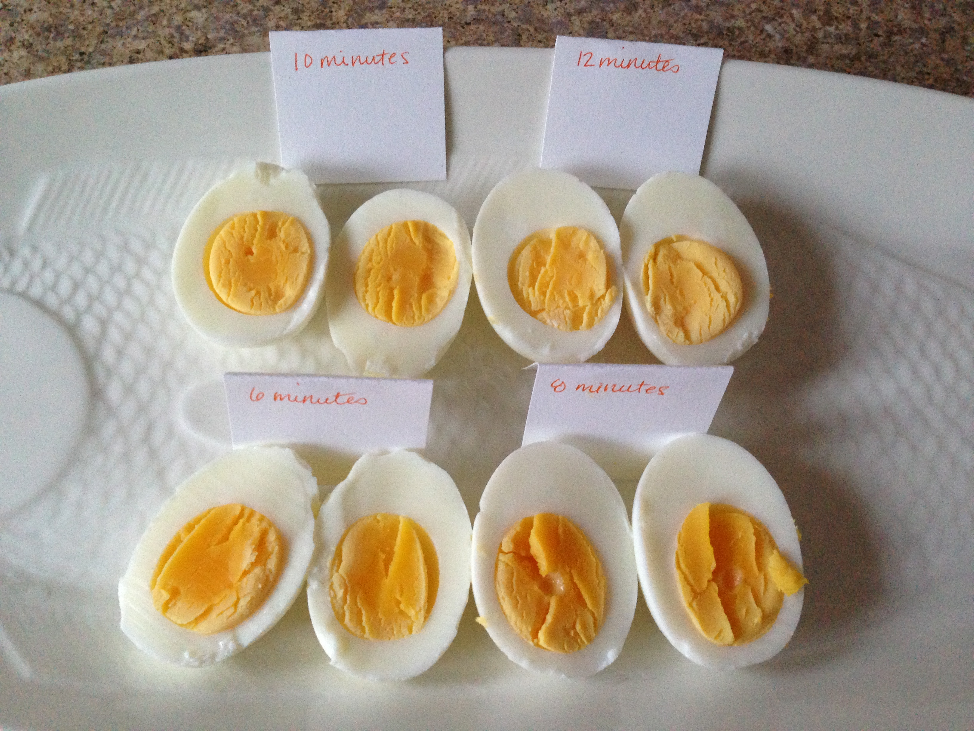 Boiled Eggs At Different Times